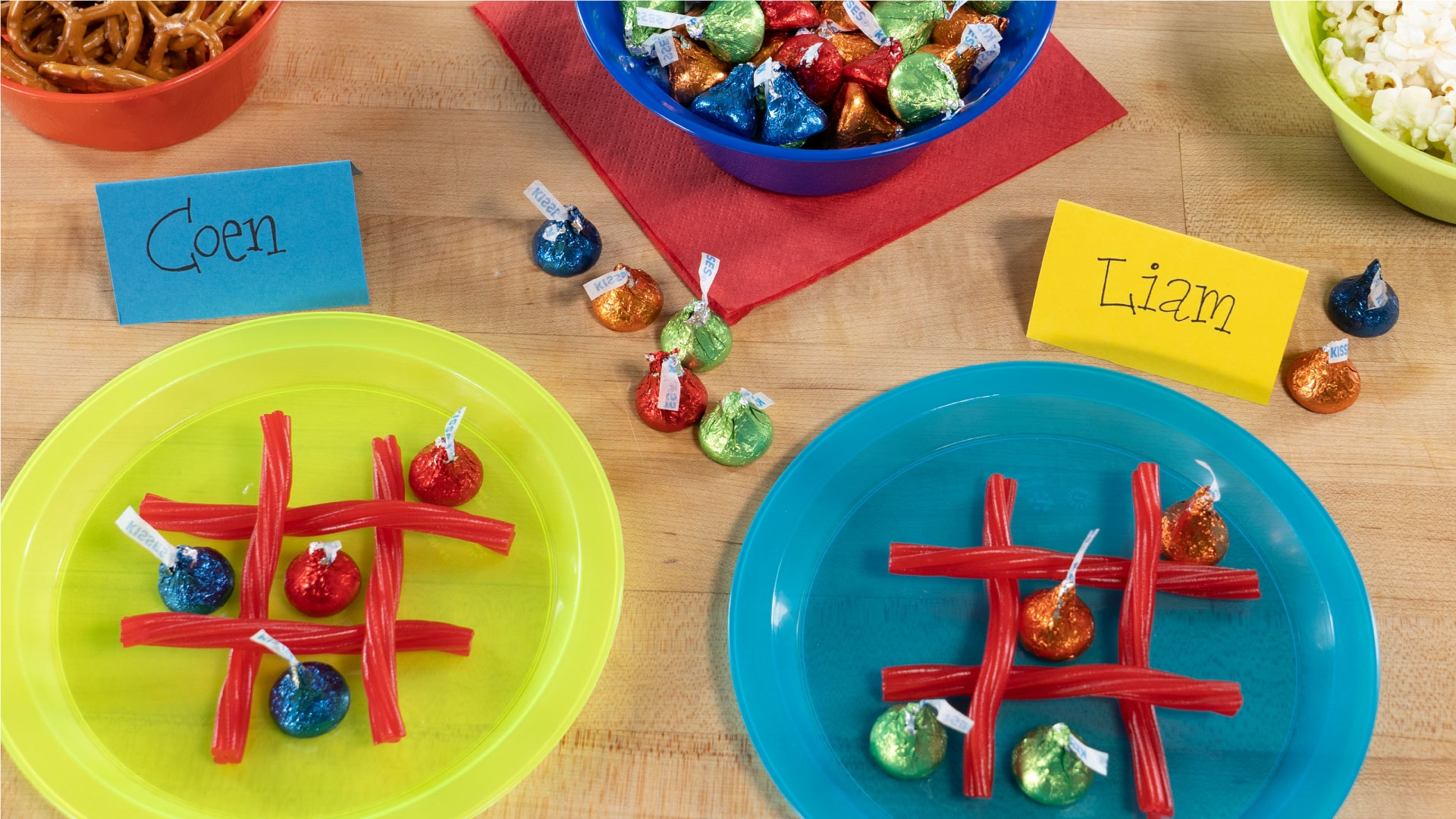 candy tic tac toe party game