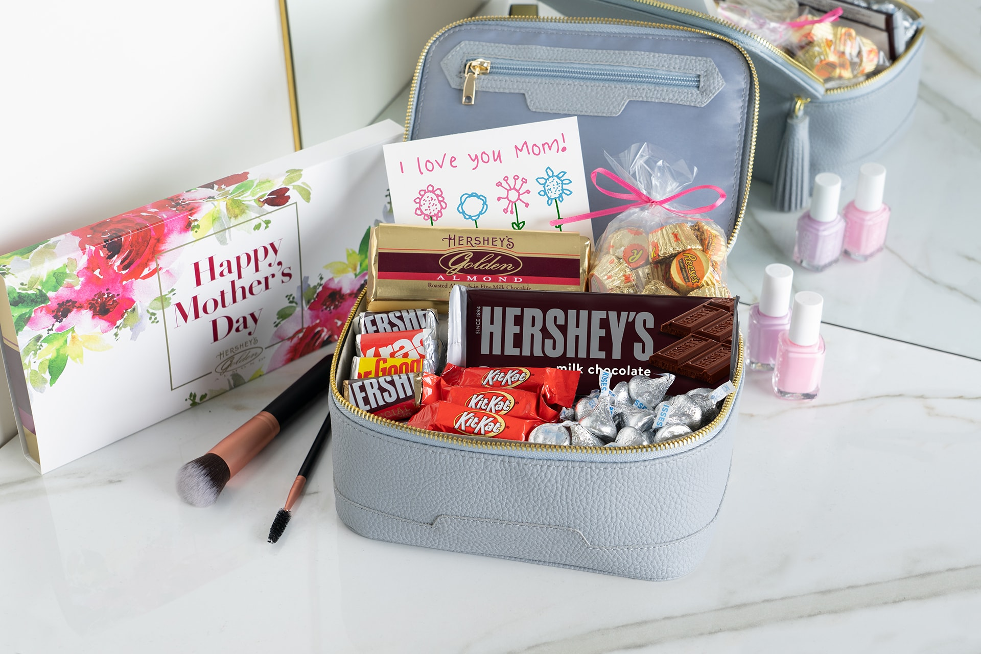 mothers day candy makeup bag