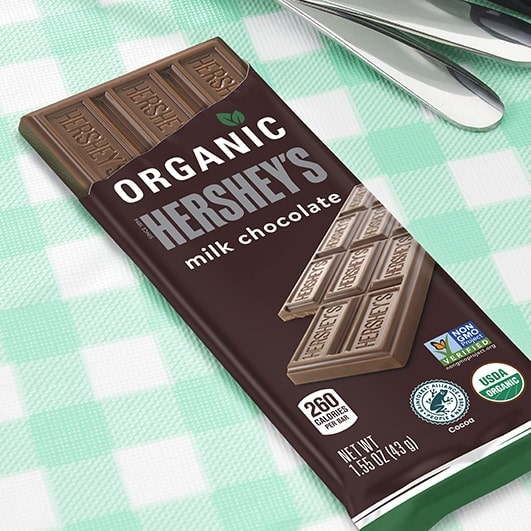 HERSHEY'S Organic Milk Chocolate Candy Bar