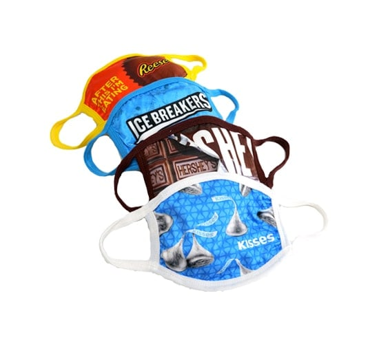 HERSHEY'S Assorted Face Masks Adult Size 4 Pack
