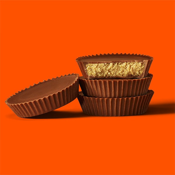 reeses peanut butter cups stacked
