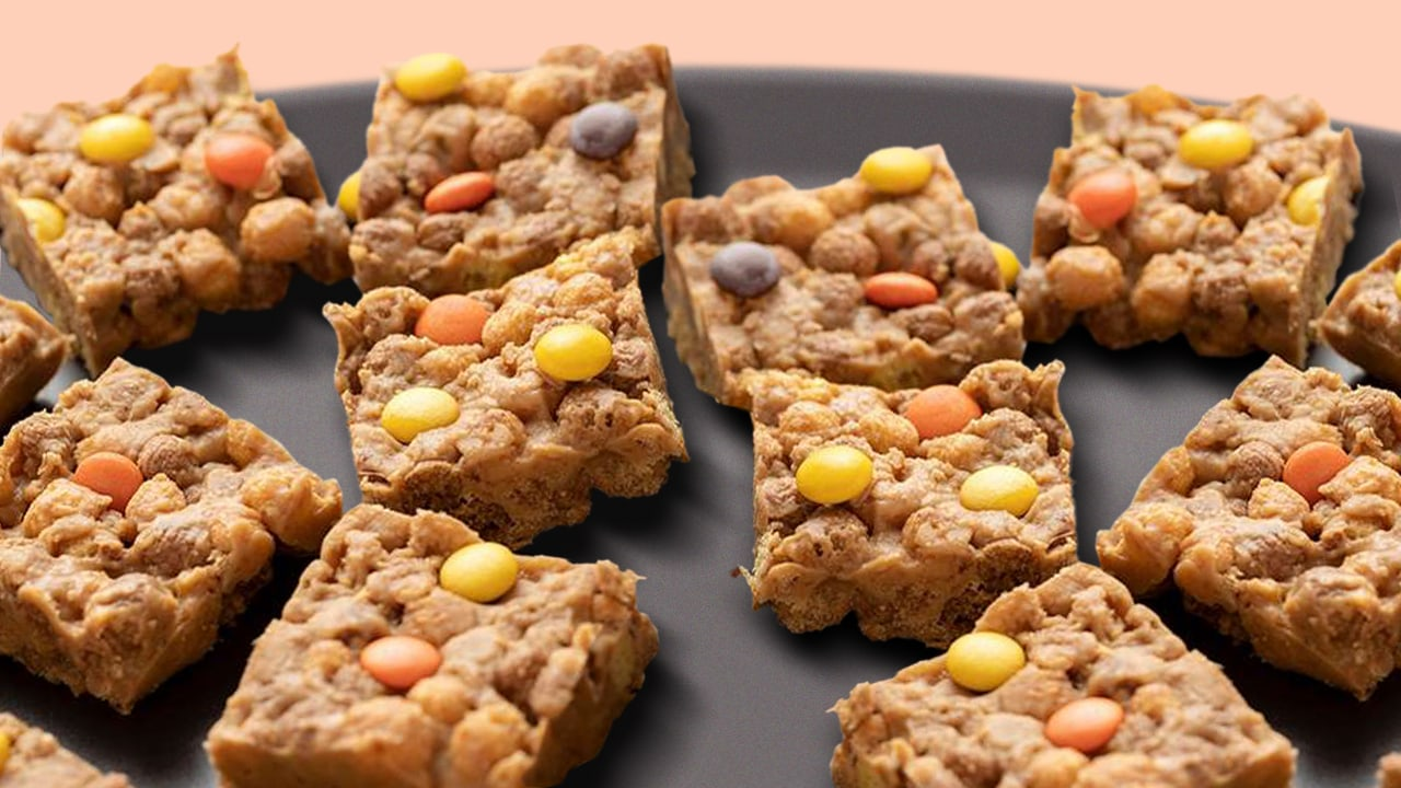 crunchy reeses pieces bars