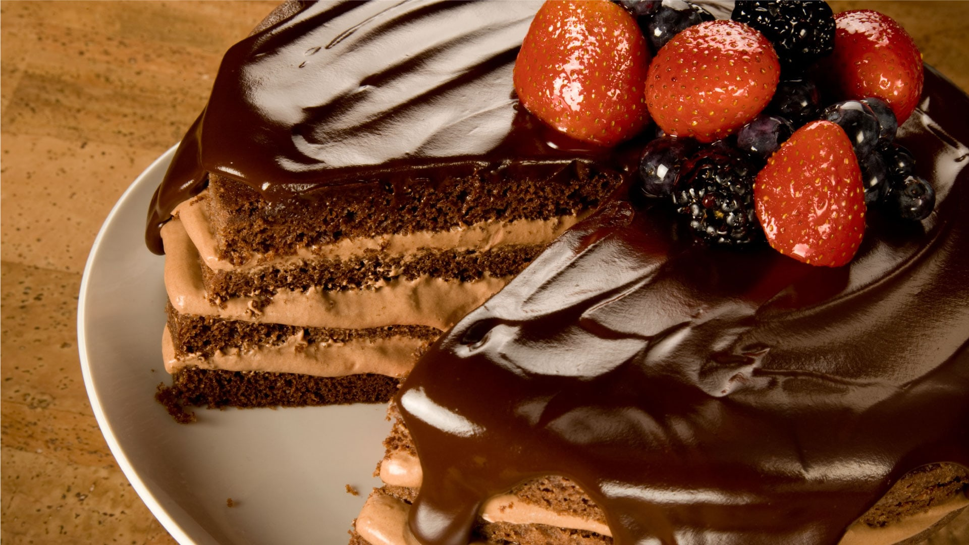 Triple Chocolate Torte