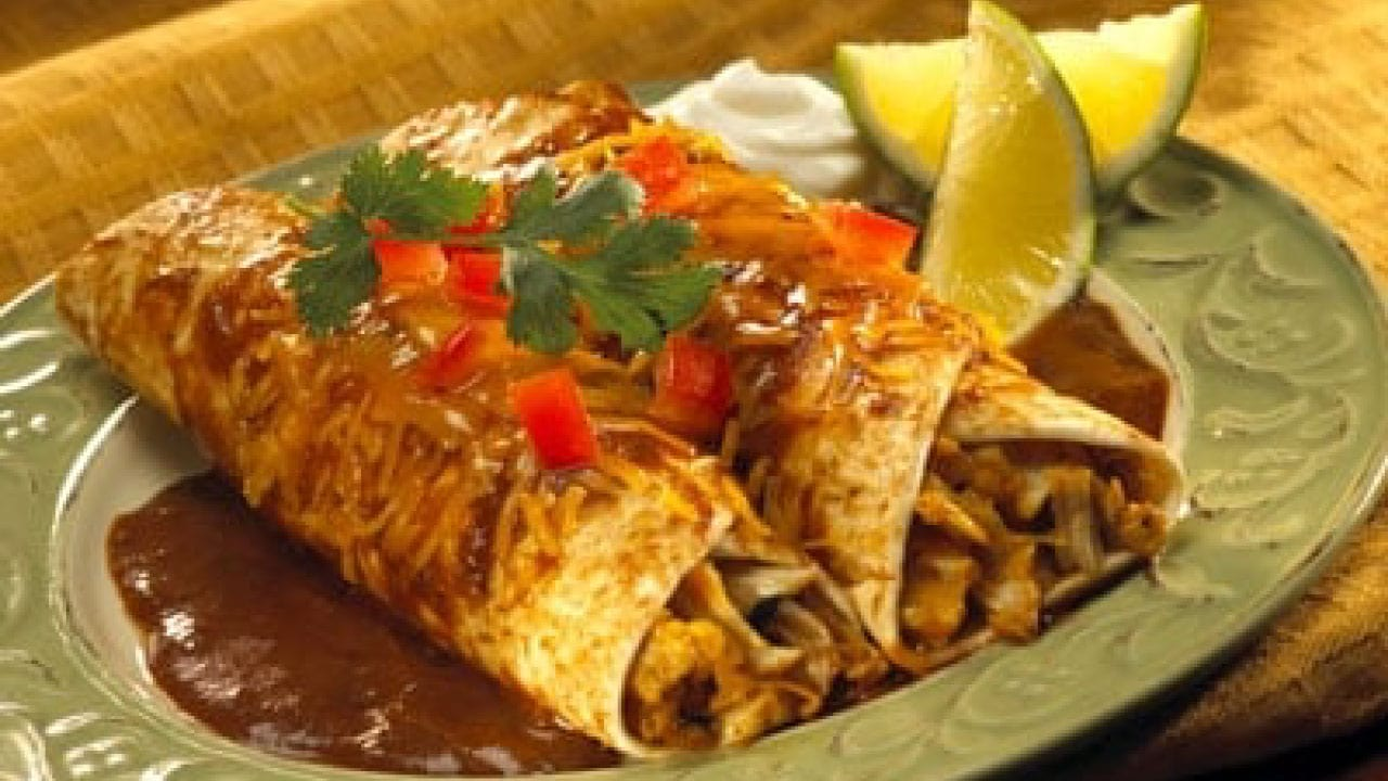 Image of Chicken Enchiladas with Chocolate Enchilada Sauce