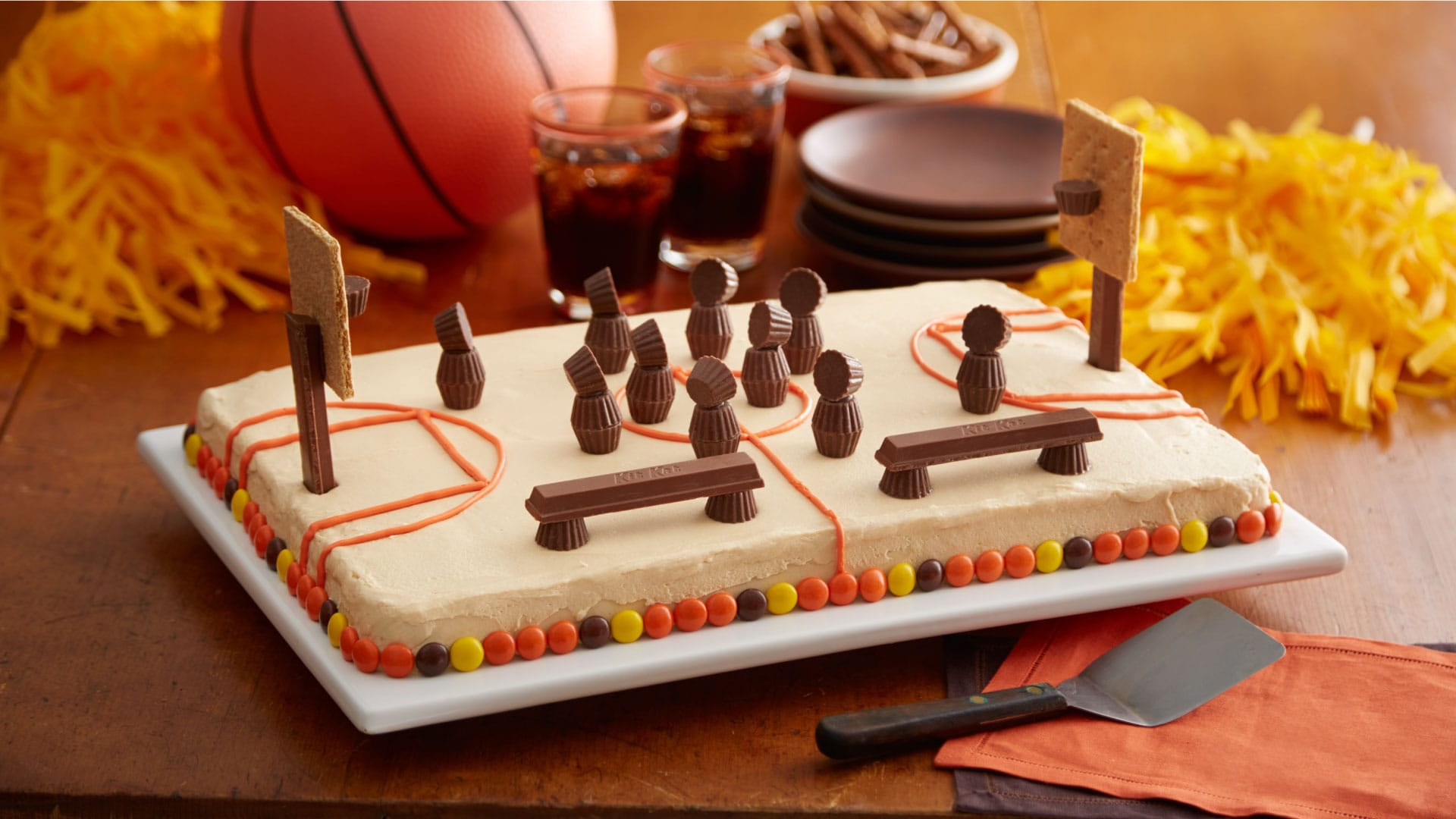hershey basketball court cake