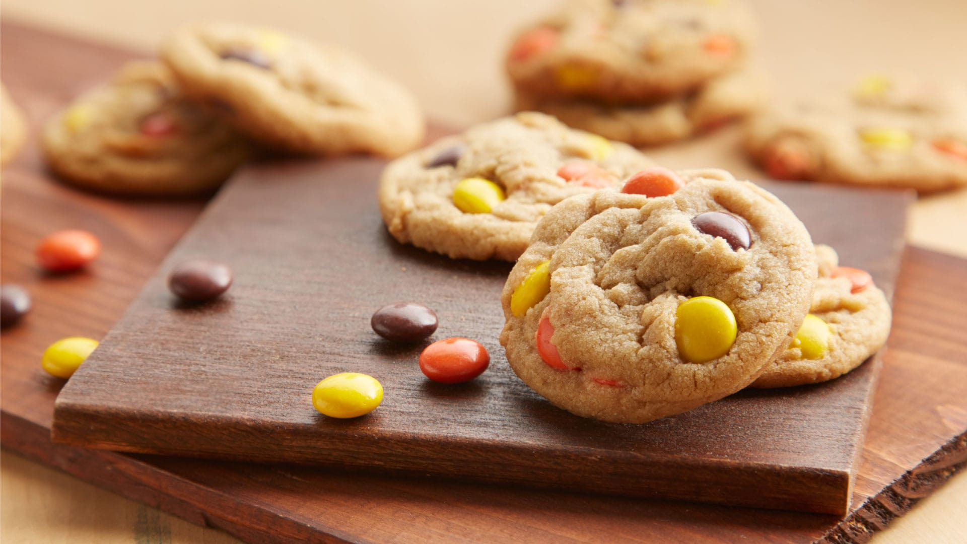 reeses pieces peanut butter cookies
