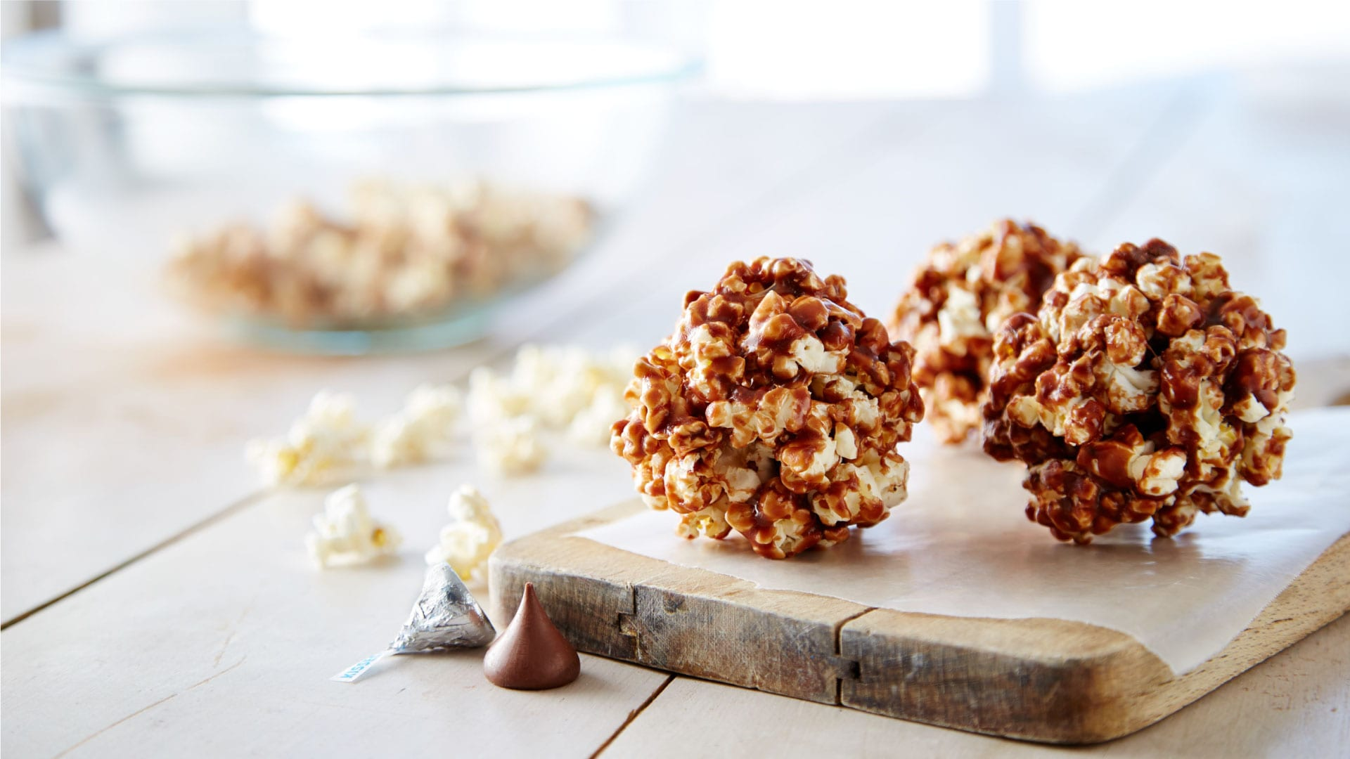 Secret KISSES Popcorn Balls